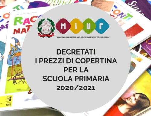 Decretati i prezzi di copertina per la scuola primaria 2021/2022